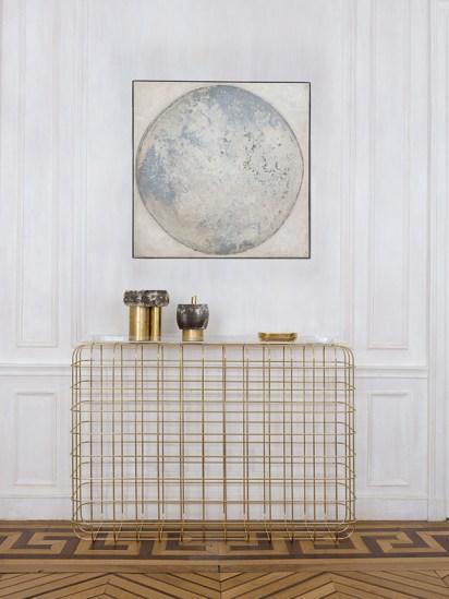 Parisian brass pied-à-terre console - decoration blog - Clem Around The Corner