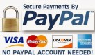 Secure Payments by Paypal - No Paypal Account Required