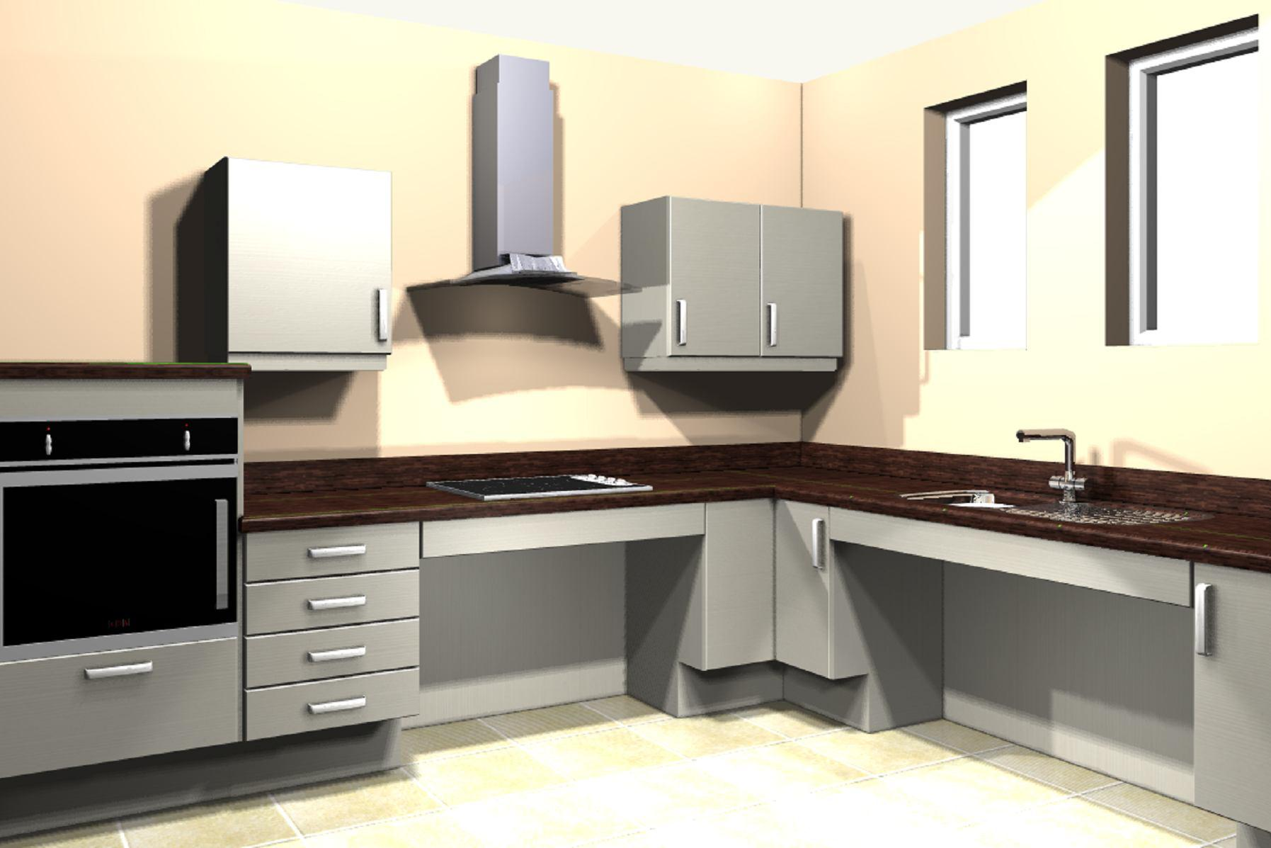 Ergonomic Italian Kitchen Design Suitable For Wheelchair Users