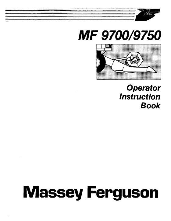 AGCO Technical Publications: Massey Ferguson Harvesting