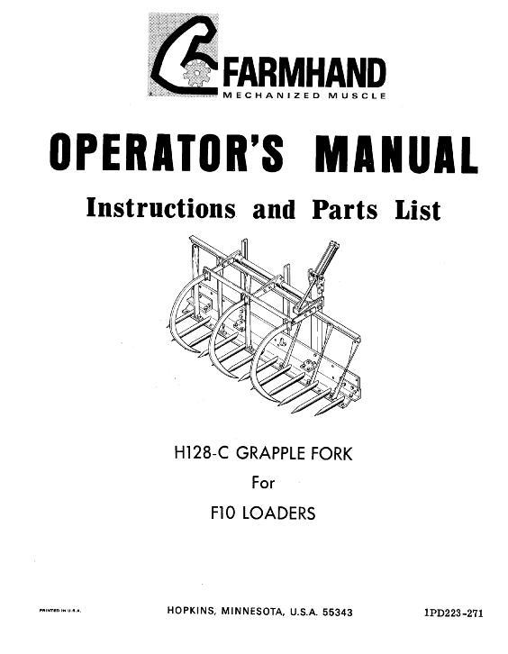 AGCO Technical Publications: Farmhand Material Handling