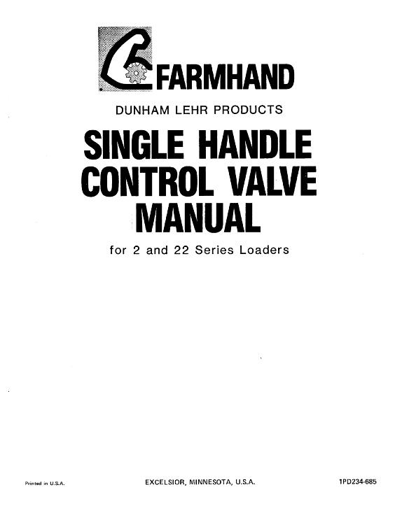 AGCO Technical Publications: Farmhand Material Handling