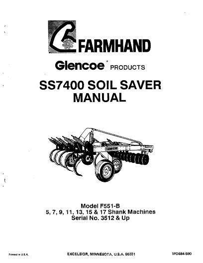 AGCO Technical Publications: Glencoe Tillage-Chisel Plows
