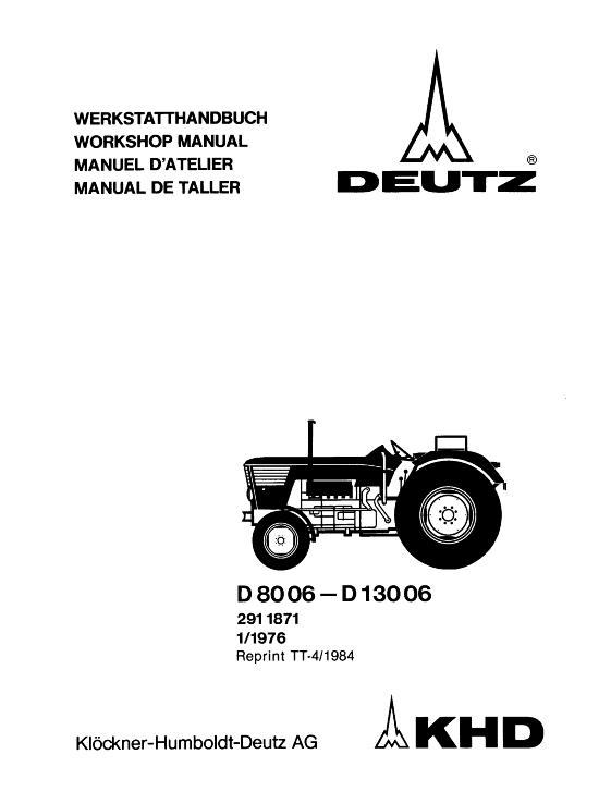 AGCO Technical Publications: Deutz Fahr Tractors
