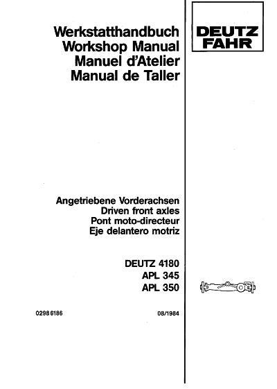AGCO Technical Publications: Deutz Fahr, Deutz Allis