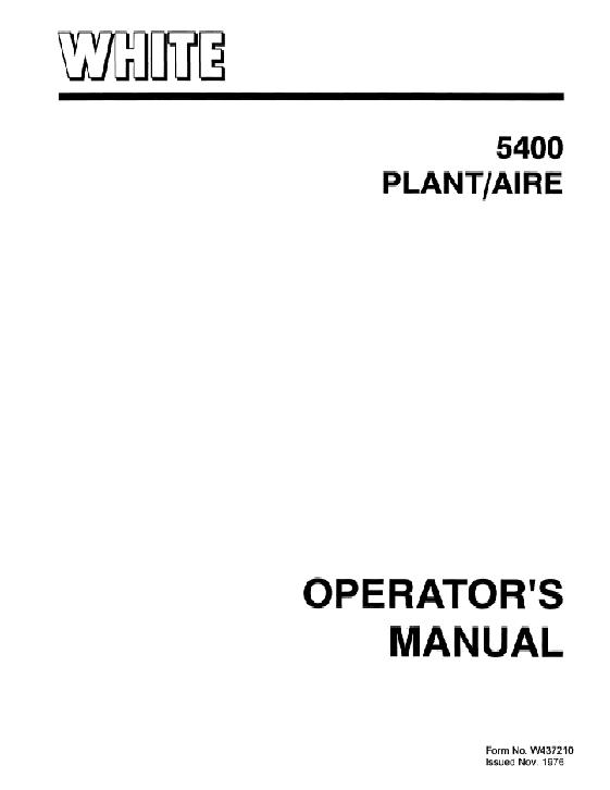 AGCO Technical Publications: White Planter Seeding
