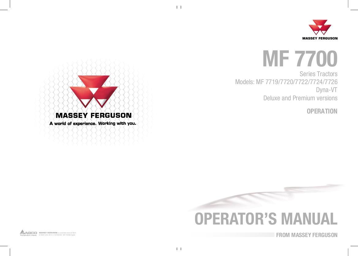 AGCO Technical Publications: Massey Ferguson Tractors