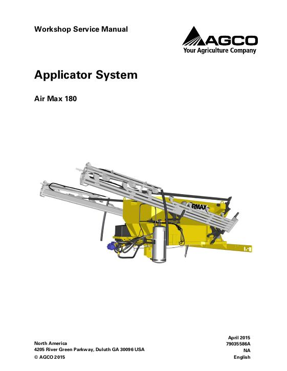 AGCO Technical Publications: Applicators-Row Crop System