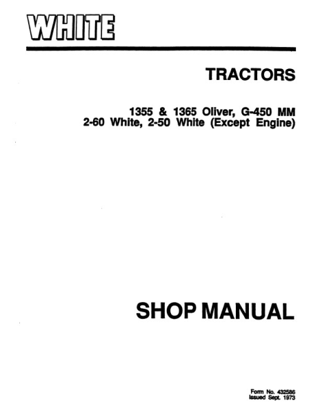 AGCO Technical Publications: Oliver, Minneapolis Moline
