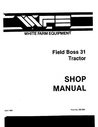 AGCO Technical Publications: White Tractors-Compact