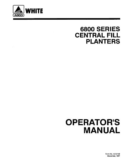 AGCO Technical Publications: White Planter Seeding