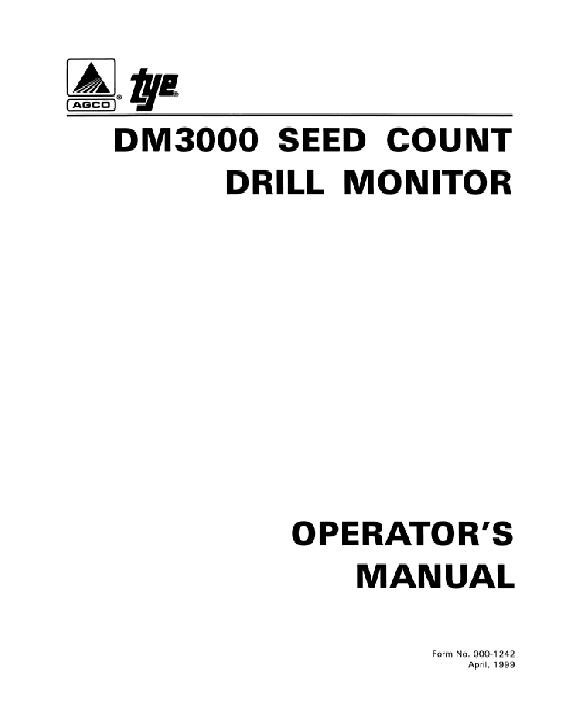 AGCO Technical Publications: Tye Seeding-Grain Drills