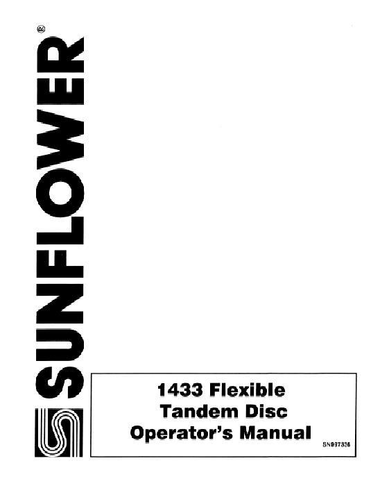 AGCO Technical Publications: Sunflower Tillage-Disc
