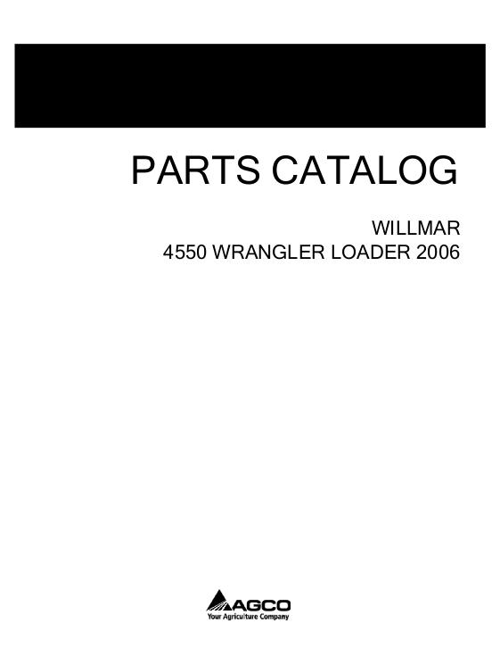 AGCO Technical Publications: Willmar Material Handling