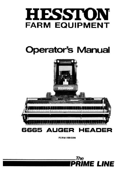 AGCO Technical Publications: Hesston Hay Equipment-Hay