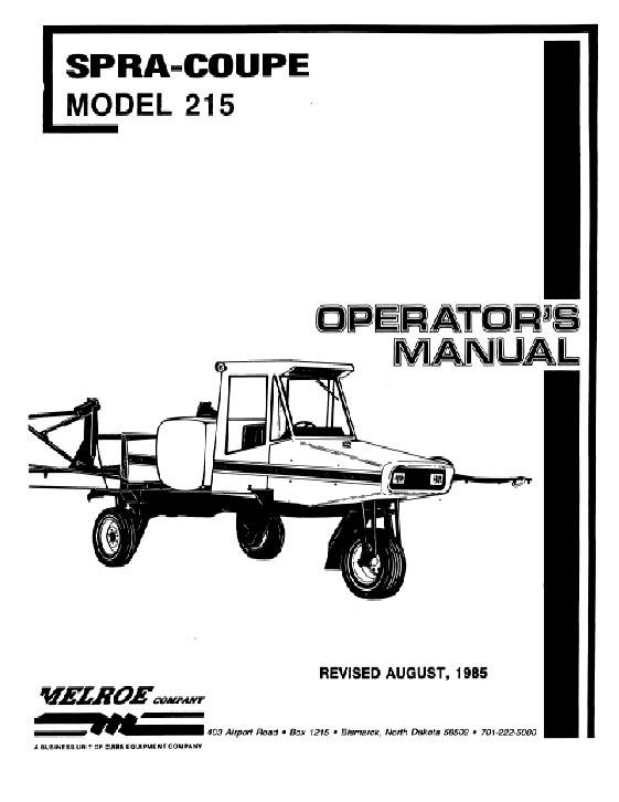 AGCO Technical Publications: Spra-Coupe Applicators-Liquid