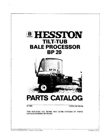 AGCO Technical Publications: Hesston Feeding-Bale