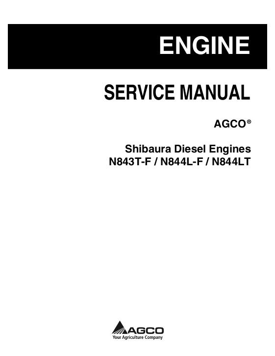 AGCO Technical Publications: Shibaura Diesel Engines N843T