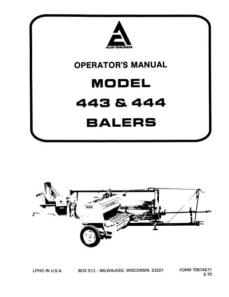 AGCO Technical Publications: Allis Chamlers Hay Equipment