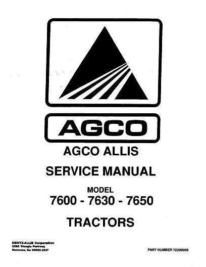 AGCO Technical Publications: AGCO Allis Tractors