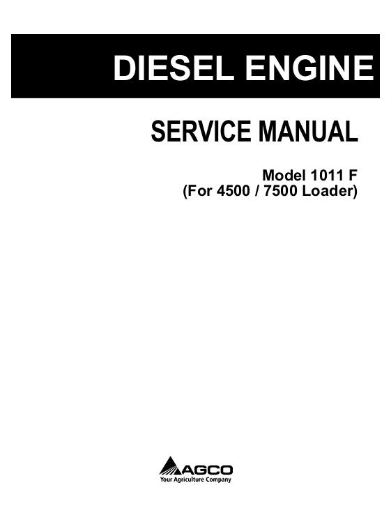 AGCO Technical Publications: 1011F Deutz Engine (used in