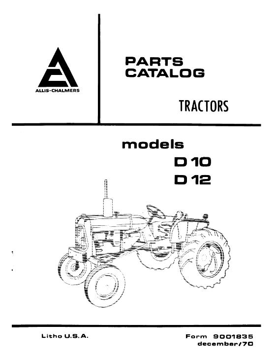 AGCO Technical Publications: Allis Chalmers Tractors