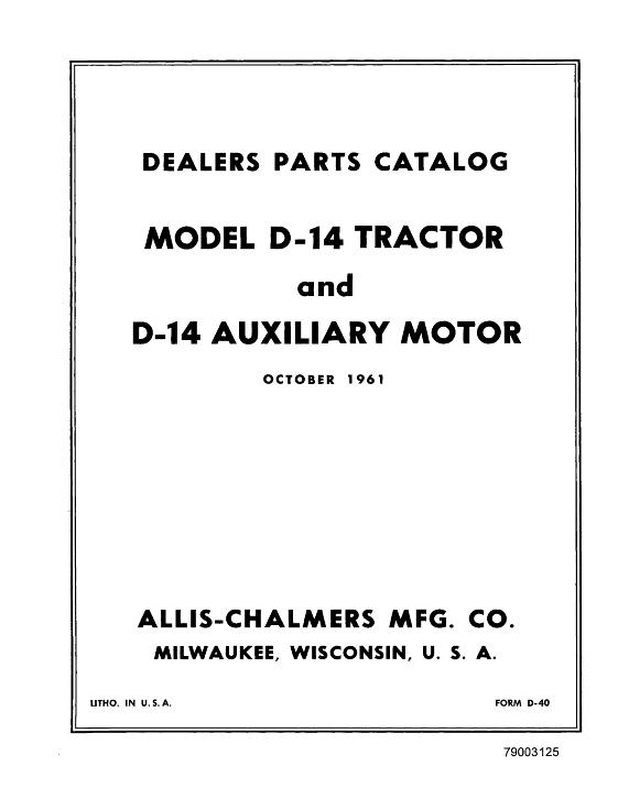 AGCO Technical Publications: Allis Chalmers Tractors