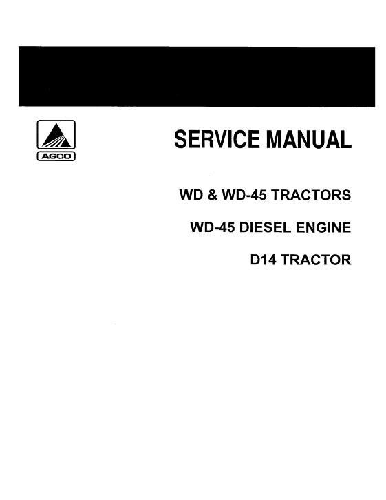AGCO Technical Publications: Allis Chalmers D14 Tractor