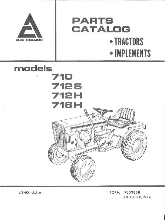 AGCO Technical Publications: Allis Chalmers, Grounds Care