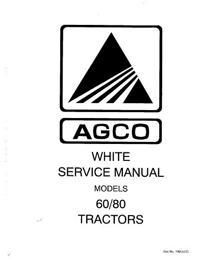 AGCO Technical Publications: White, Tractors-Agricultural
