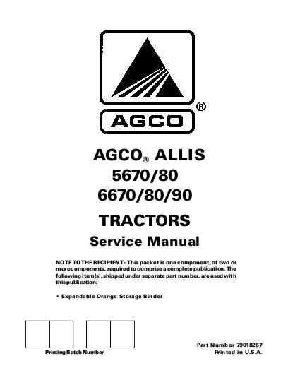 AGCO Technical Publications: 5670 / 5680, 6670 / 6680