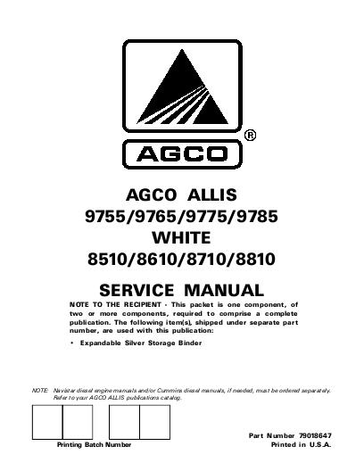 AGCO Technical Publications: AGCO Allis and White