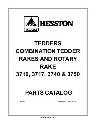 AGCO Technical Publications: Hesston Hay Equipment-Rakes