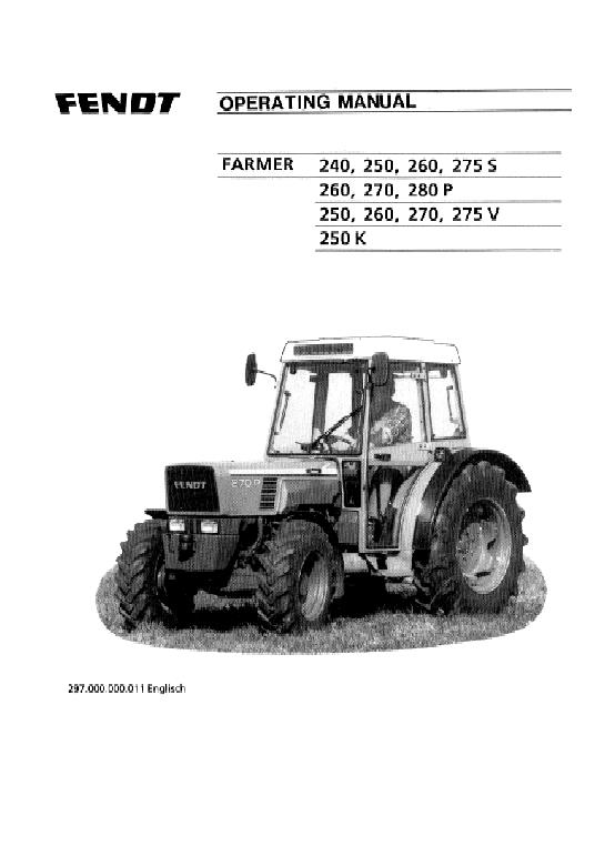 AGCO Technical Publications: Fendt Tractors-Agricultural