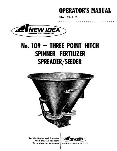 AGCO Technical Publications: New Idea Applicators-Dry