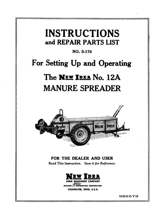 AGCO Technical Publications: New Idea Material Handling