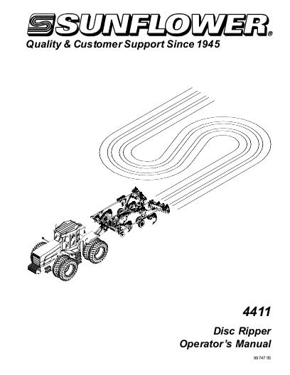 AGCO Technical Publications: Sunflower Tillage-Subsoilers