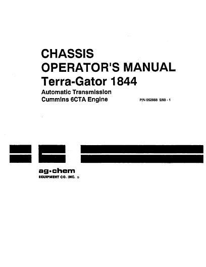 AGCO Technical Publications: Ag-Chem Applicators-Flotation