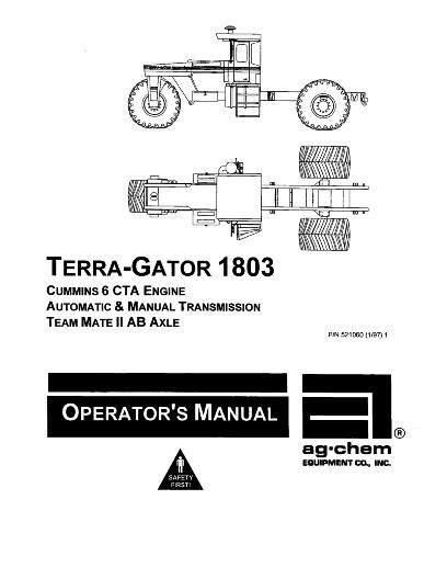 AGCO Technical Publications: Ag-Chem Applicators-Flotation