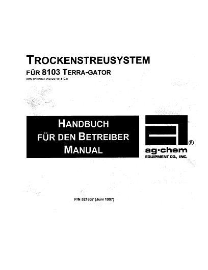 AGCO Technical Publications: 8103 Terra-Gator (dry