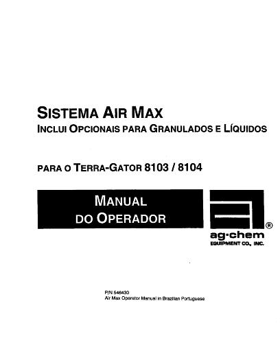 AGCO Technical Publications: 8103 / 8104 Terra-Gator Air