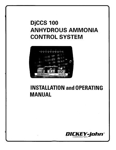 AGCO Technical Publications: Dickey-john DJCCS100 Control