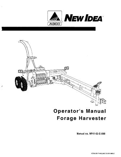 AGCO Technical Publications: New Idea Forage-Harvesters