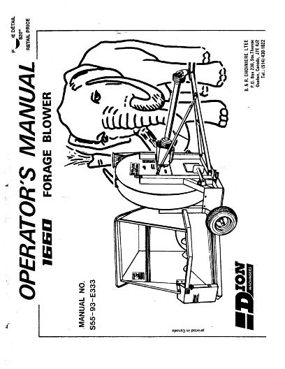 AGCO Technical Publications: 1660 Forage Blower (Mammouth