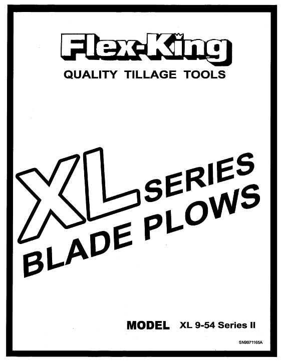 AGCO Technical Publications: Flex King Tillage-Sweep Plows