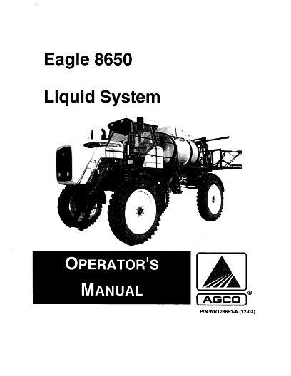 AGCO Technical Publications: Willmar Applicators-Liquid