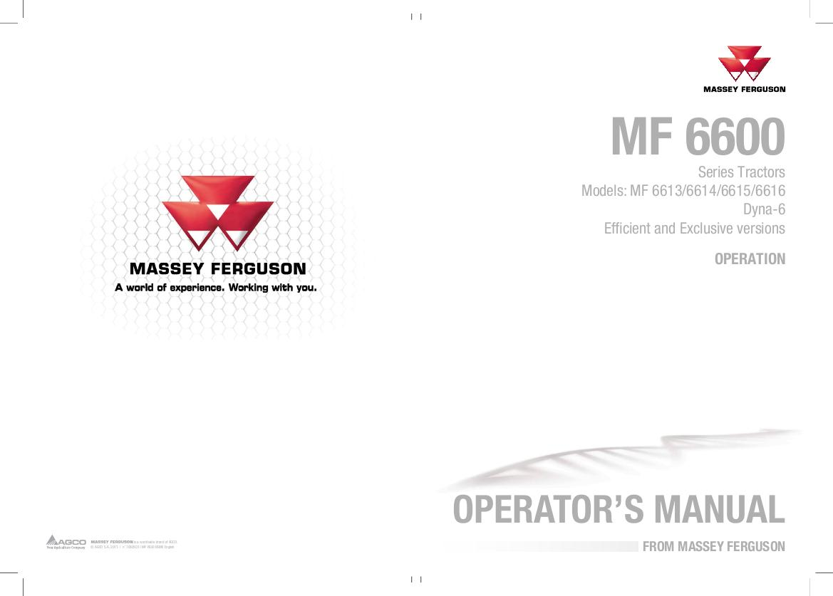 AGCO Technical Publications: Massey Ferguson Tractors