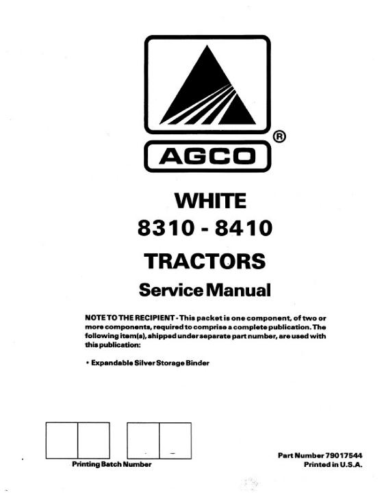 AGCO Technical Publications: White Tractors-Agricultural