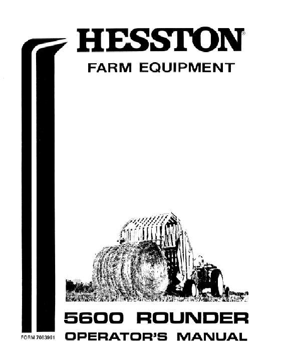 AGCO Technical Publications: Hesston Hay Equipment-Balers