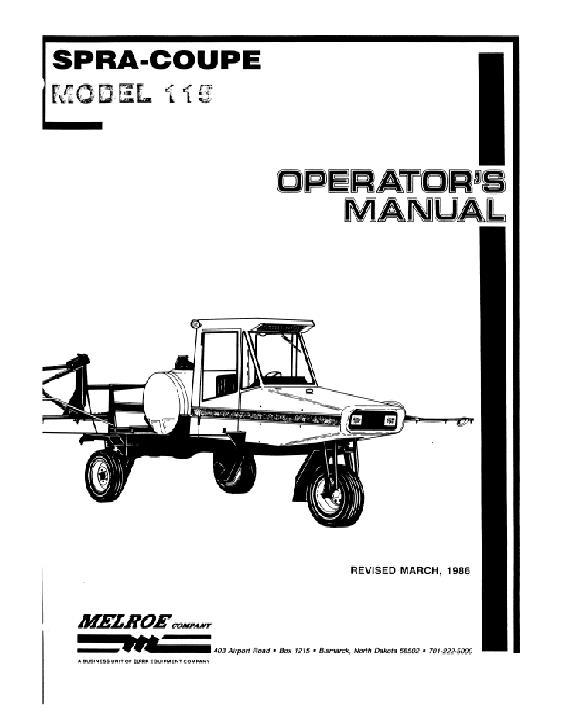 AGCO Technical Publications: Spra-Coupe Applicators-Liquid